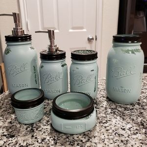 New bathroom mason jar decor bundle